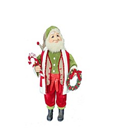 36-Inch Kringle Klaus Elf with Wreath
