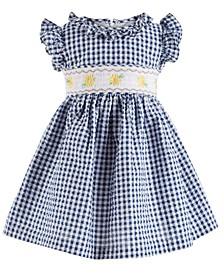 Baby Girls Gingham Seersucker Dress