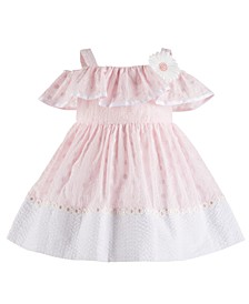 Baby Girls Cold Shoulder Eyelet Dress