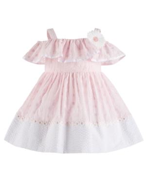 Bonnie Baby Baby Girls Cold Shoulder Eyelet Dress