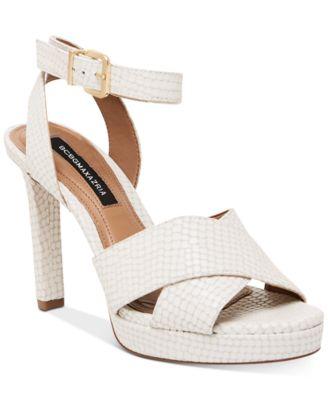 white platform dress sandals