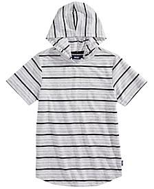 Big Boys Outsider Stripe Hooded T-Shirt