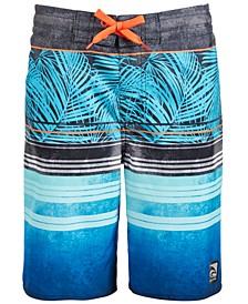 Big Boys Palm Stripes Swim Trunks
