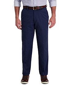 Haggar Men's Motion Classic-Fit Stretch Supreme Flex Waistband Pants