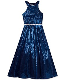 Big Girls Sequined Gown