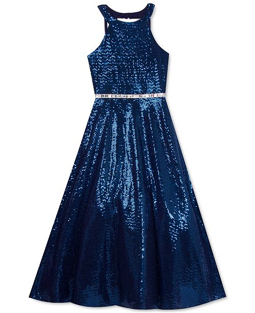 Rare Editions Big Girls Sequined Gown