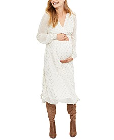 Maternity V-Neck Midi Dress