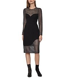 Asymmetrical Illusion Dress
