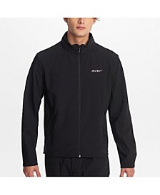 Men's Windbreaker With Relfective Logo And Hidden Hood