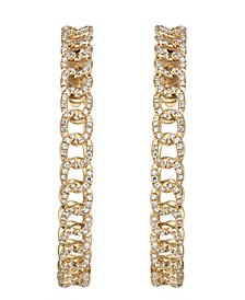Diamond (1 ct. t.w.) Link Hoop Earrings in 14K Yellow Gold