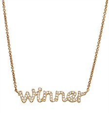 Diamond (1/6 ct. t.w.) 'Winner' Necklace in 14K Yellow Gold