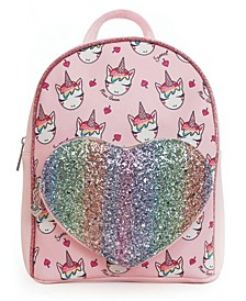 Ice Cream Miss Gwen Printed Mini Backpack with Heart Pocket