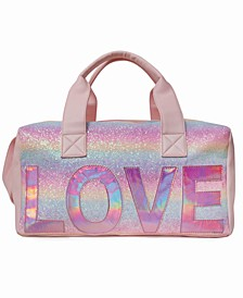 Love Duffle Bag With Glitter
