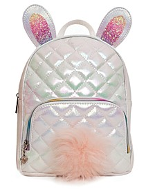 Metallic Quilted Bunny Mini Backpack