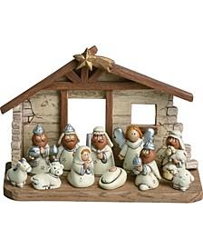 Kids Nativity w/Crèche Set of 12