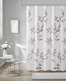 "Cecily 72"" x 72"" Printed Shower Curtain"