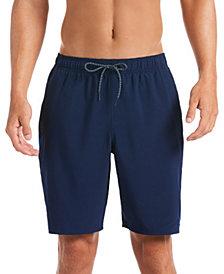 "Nike Men's 6:1 Stripe Breaker Water-Repellent Colorblocked 9"" Swim Trunks"
