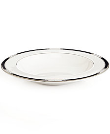 Lenox Dinnerware, Hancock Platinum White Rim Soup Bowl