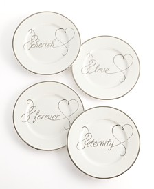 Mikasa Set of 4 Love Story Appetizer Plates