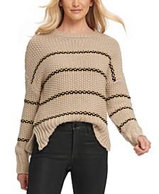 Striped Vented-Hem Sweater