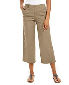 Wide-Leg Cropped Pants, Created for Macy's