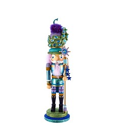 17.5-Inch Hollywood™ Peacock Hat Nutcracker