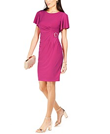 Side-Buckle Sheath Dress