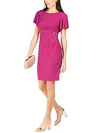 Side-Buckle Sheath Dress