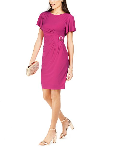 Jessica Howard Side-Buckle Sheath Dress
