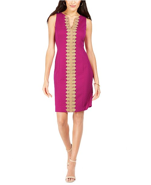 Pappagallo Lace-Trim Sheath Dress