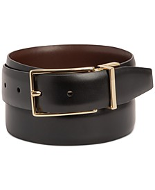 Men's Reversible Faux-Leather Belt, Created for Macy's
