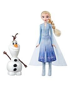Disney Talk and Glow Olaf and Elsa Dolls, Remote Control Elsa Activates Talking, Dancing, Glowing Olaf, Inspired by Disney's Frozen 2 Movie - Toy For Kids Ages 3 and Up