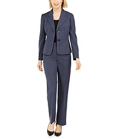 Petite Two-Button Pantsuit