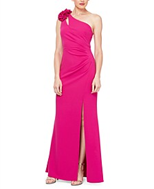 One-Shoulder Asymmetrical-Neck Gown