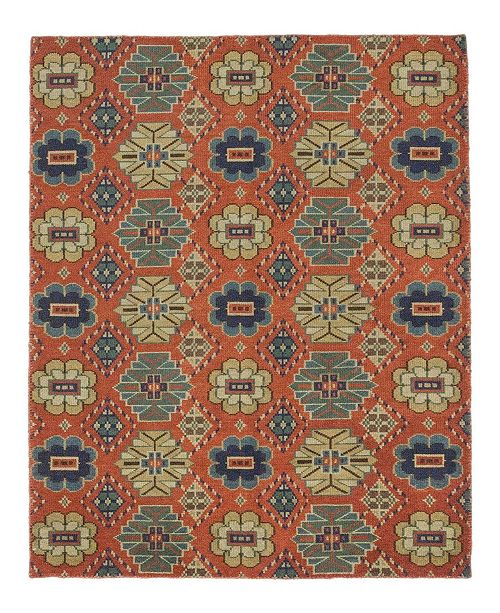 """Timeless Rug Designs CLOSEOUT! One of a Kind OOAK378 Tan 6'3"""" x 9' Area Rug"""