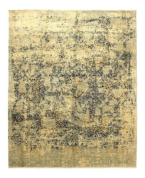 "Timeless Rug Designs CLOSEOUT! One of a Kind OOAK940 Flax 8'10"" x 11'10"" Area Rug"