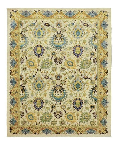 """Timeless Rug Designs CLOSEOUT! One of a Kind OOAK969 Yellow 6'1"""" x 8'10"""" Area Rug"""