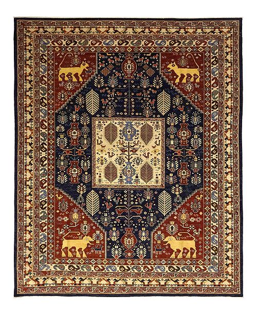 "Timeless Rug Designs CLOSEOUT! One of a Kind OOAK1094 Red 9'10"" x 13'10"" Area Rug"