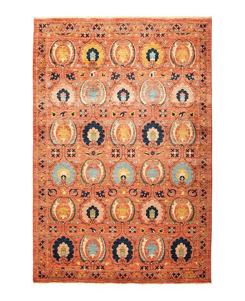 "Timeless Rug Designs CLOSEOUT! One of a Kind OOAK1292 Tan 6'2"" x 9'0"" Area Rug"