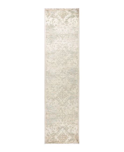 "Timeless Rug Designs CLOSEOUT! One of a Kind OOAK1696 Ivory 2'8"" x 10'6"" Runner Rug"