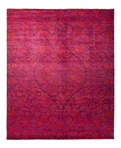 """Timeless Rug Designs CLOSEOUT! One of a Kind OOAK1797 Plum 8'10"""" x 11'10"""" Area Rug"""