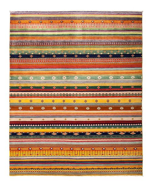 "Timeless Rug Designs CLOSEOUT! One of a Kind OOAK2835 Caramel 6'4"" x 8'9"" Area Rug"