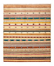 """CLOSEOUT! One of a Kind OOAK2824 Caramel 4'2"""" x 6'2"""" Area Rug"""