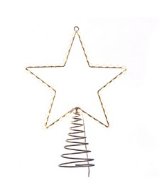 17.5-Inch Metal Lighted LED Star Treetop