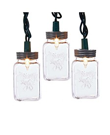 UL 10-Light Clear Mason Jar Light Set