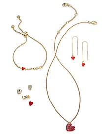 Gold-Tone Crystal Love Jewelry Separates