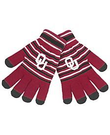 Oklahoma Sooners Acrylic Stripe Knit Glove