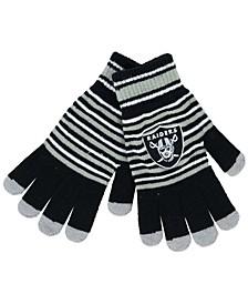 Oakland Raiders Acrylic Stripe Knit Glove