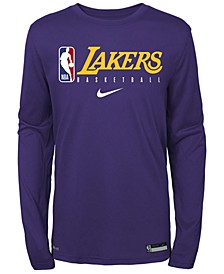 Big Boys Los Angeles Lakers Practice Long Sleeve T-Shirt