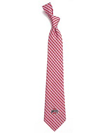 Ohio State Buckeyes Poly Gingham Tie